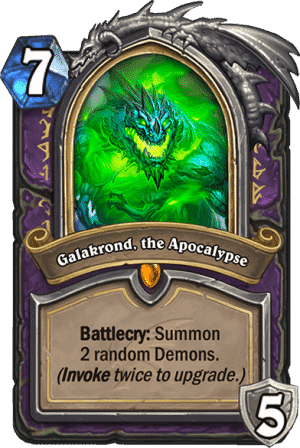 Galakrond the Apocalypse - Warlock