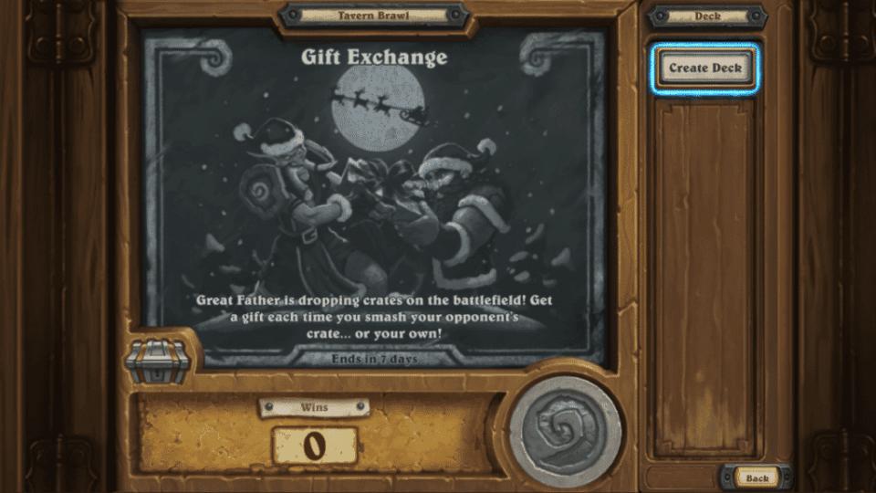 "This Weeks Tavern Brawl is ""Gift Exchange"""
