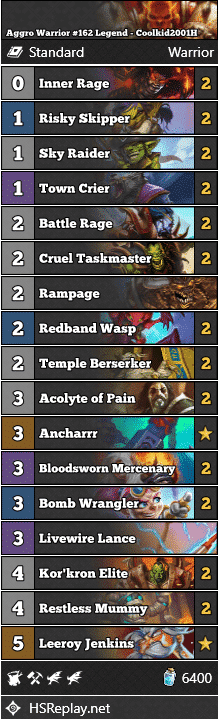 Aggro Warrior #162 Legend - Coolkid2001H