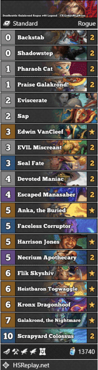 Deathrattle Galakrond Rogue #40 Legend - CX1JoQysNLpNvxu
