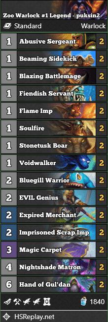 Zoo Warlock #1 Legend - puksin2