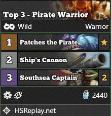 Top 3 - Pirate Warrior