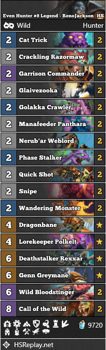 Even Hunter #8 Legend - RenoJackson_HS