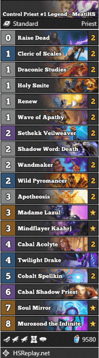 Control Priest #1 Legend - MeatiHS