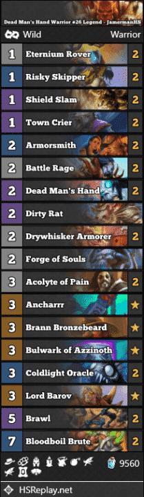 Dead Man's Hand Warrior #26 Legend - JamermanHS