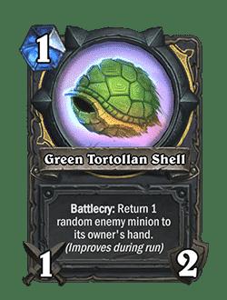 Green Tortollan Shell