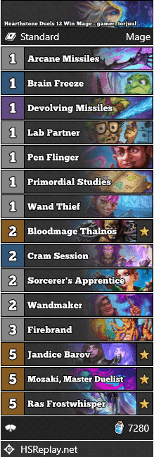 Hearthstone Duels 12 Win Mage - gamer_torjuul
