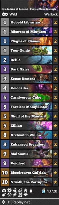 Hijodaikan #1 Legend - Control Cube Warlock