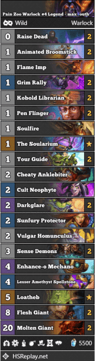 Pain Zoo Warlock #4 Legend - max_outh