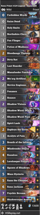 Reno Priest #124 Legend - BiancoHS