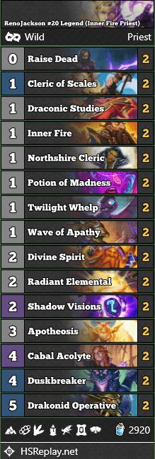 RenoJackson #20 Legend (Inner Fire Priest)