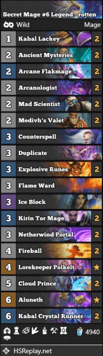 Secret Mage #6 Legend - rotten