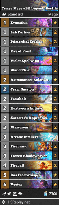 Tempo Mage #143 Legend - BocLife