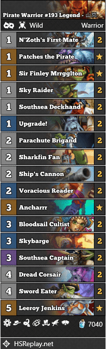 Pirate Warrior #193 Legend - 山岚
