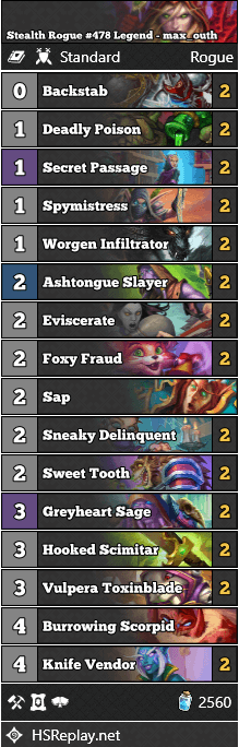 Stealth Rogue #478 Legend - max_outh