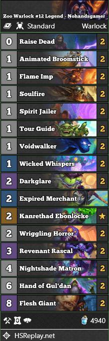 Zoo Warlock #12 Legend - Nohandsgamer