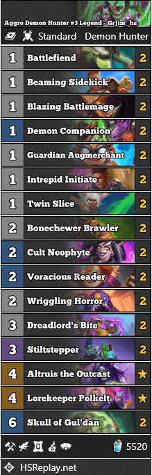 Aggro Demon Hunter #3 Legend - GrJim_hs