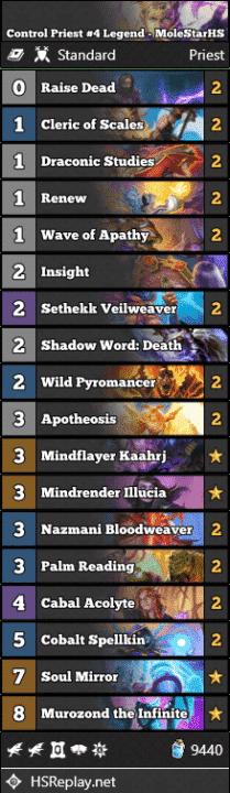 Control Priest #4 Legend - MoleStarHS