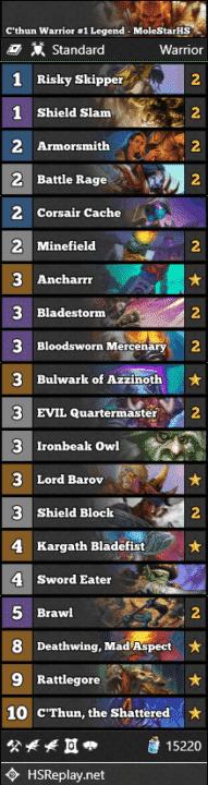 C'thun Warrior #1 Legend - MoleStarHS