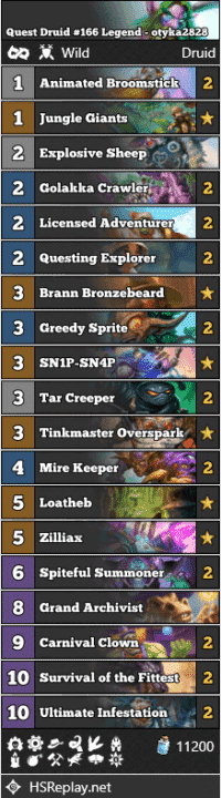 Quest Druid #166 Legend - otyka2828