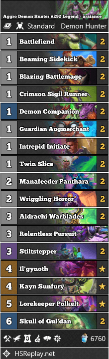 Aggro Demon Hunter #292 Legend - araiance