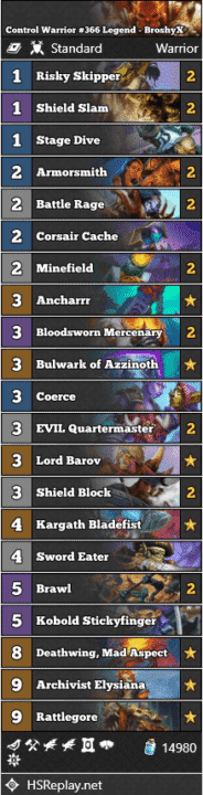 Control Warrior #366 Legend - BroshyX