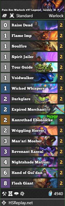 Pain Zoo Warlock #97 Legend - loreley_H_P