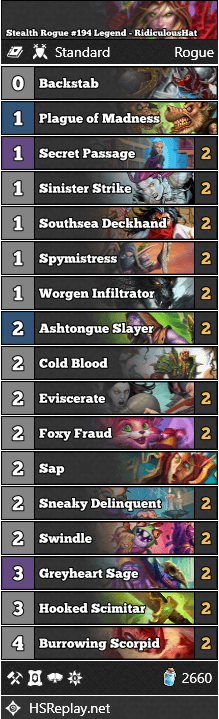 Stealth Rogue #194 Legend - RidiculousHat