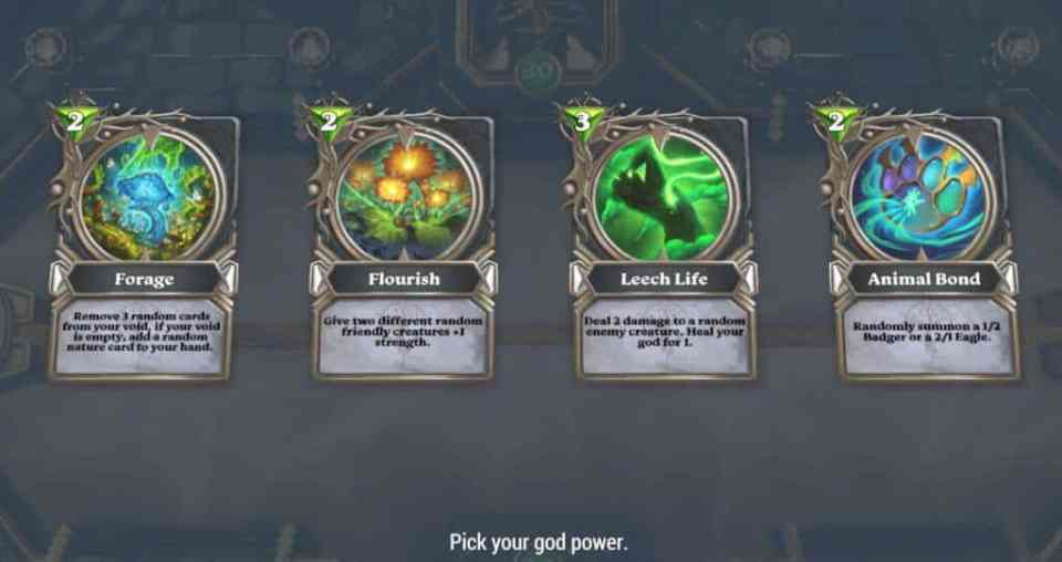 Gods Unchained God powers