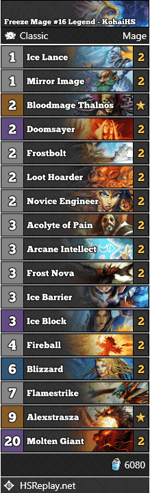Freeze Mage #16 Legend - KohaiHS