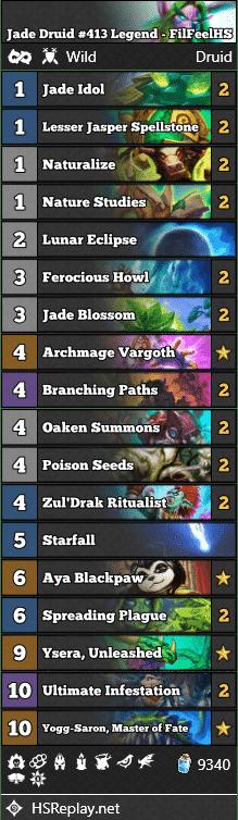 Jade Druid #413 Legend - FilFeelHS