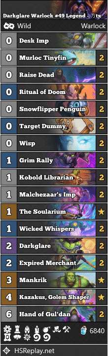 Darkglare Warlock #49 Legend - 方tx