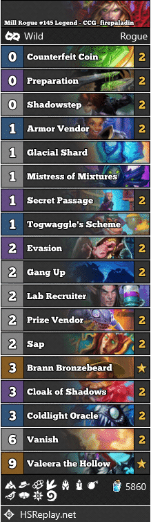 Mill Rogue #145 Legend - CCG_firepaladin