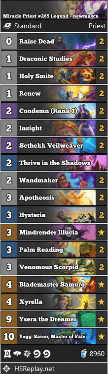 Miracle Priest #285 Legend - newmasca