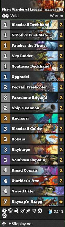 Pirate Warrior #8 Legend - matsundHS