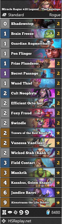 Miracle Rogue #20 Legend - TheCantelope