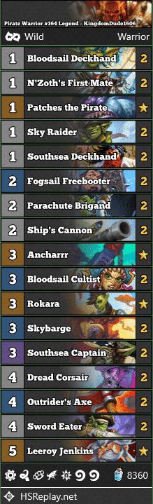 Pirate Warrior #164 Legend - KingdomDude1606