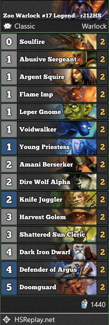 Zoo Warlock #17 Legend - r212HS