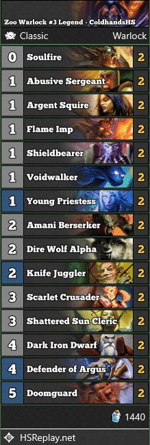 Zoo Warlock #3 Legend - ColdhandsHS