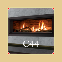 New for 2016 - C44 Gas Fireplace by Enviro