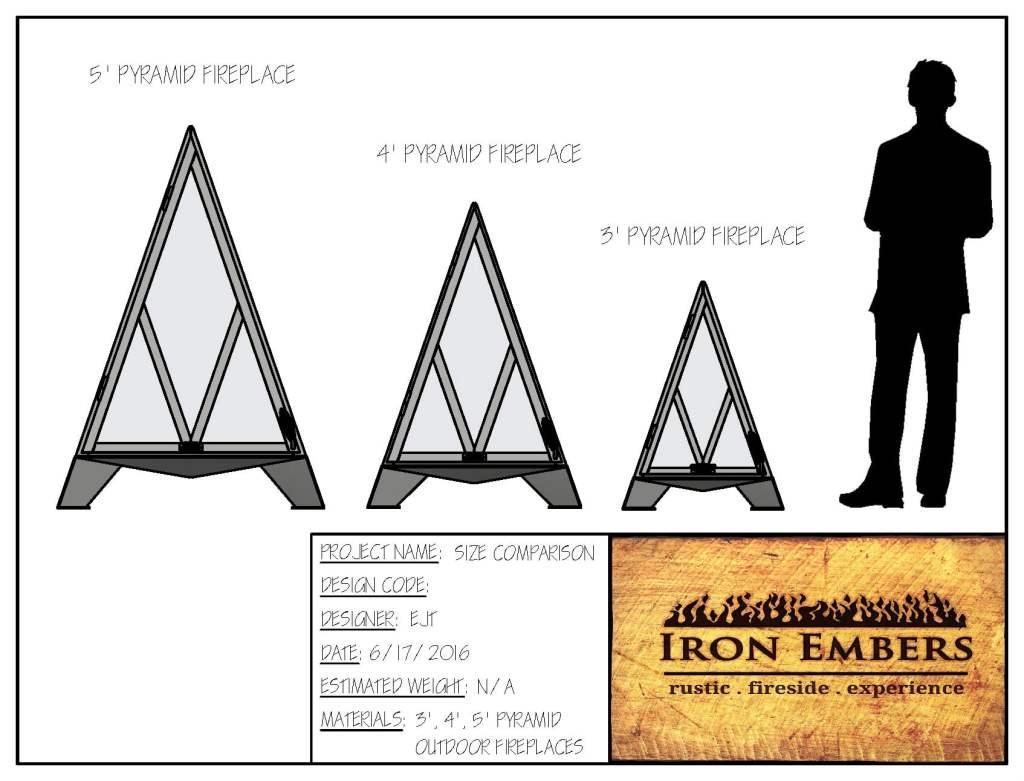 3′ Pyramid Outdoor Fireplace