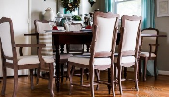 Gorgeous Linen Dining Room Chairs From Old Cane Back