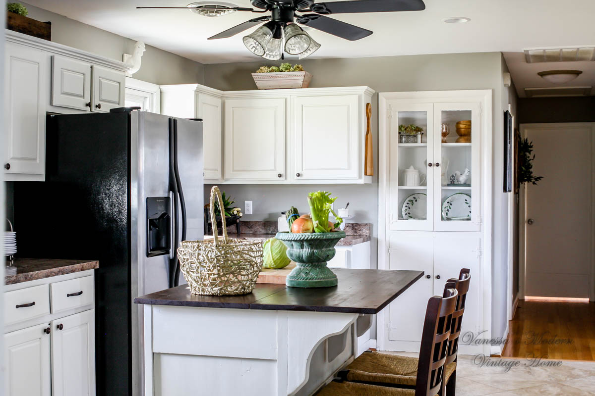 How I Painted My Kitchen Cabinets Without Removing The Doors! -