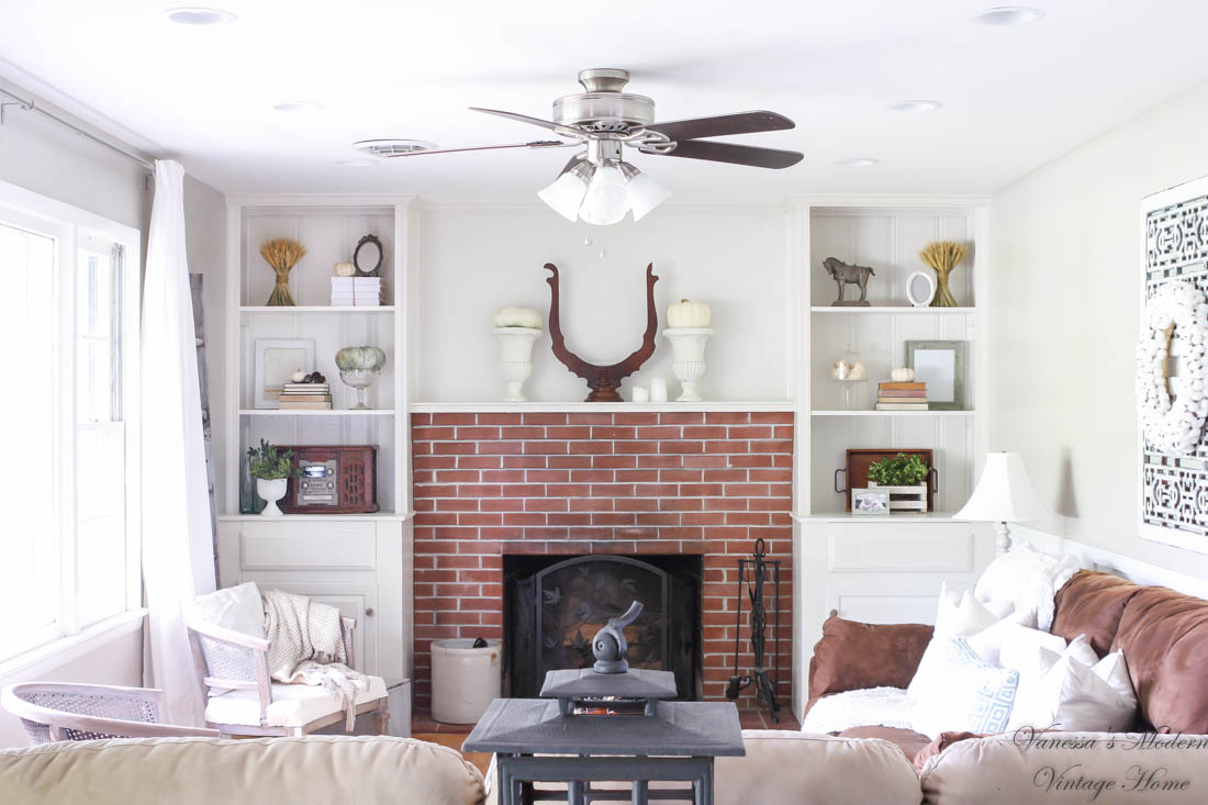 DIY Built-ins Around Fireplace Reveal -