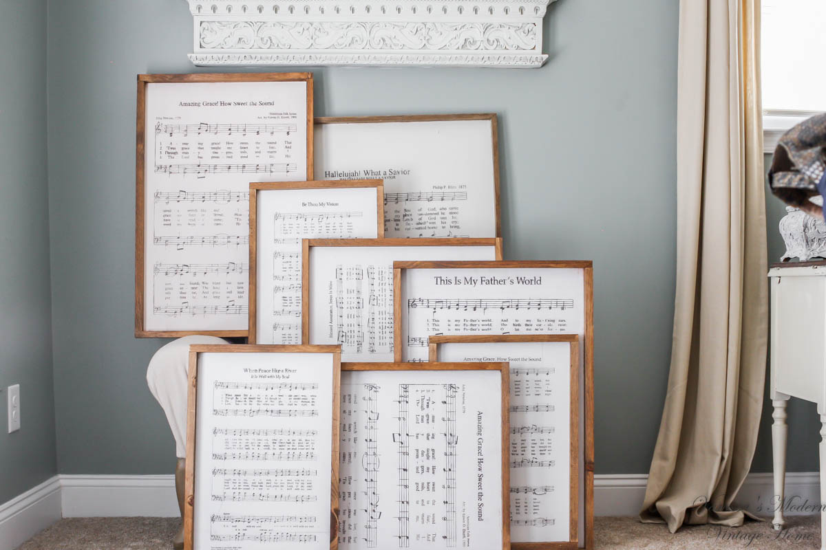 Farmhouse Sheet Music Sign, Farmhouse Sign, Large sheet music sign, farmhouse inspired signs with sheet music