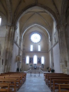 The austere interior of Santa Maria Arabona
