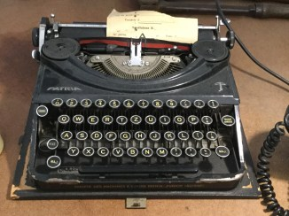 old typewriter at the Museo Ferroviario della Puglia