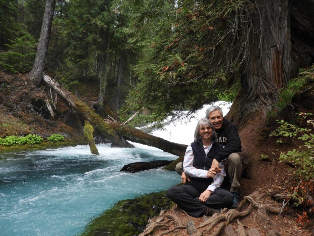 Jim and Rhenda at Koosah Falls