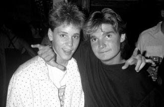corey haim and corey feldman-bw from youth - hollywood child sexual abuse shame and scandal