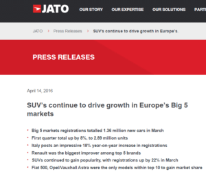 JATO 1Q2016 News Article